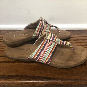 Aerosoles (US 6) rainbow multi-color thong sandal